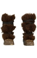 Fur Armored Boots (Brown)