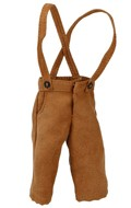 Small Size Velvet Croped Pants with Suspenders (Brown)