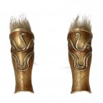 Diecast Leg Armors with Fur (Gold)