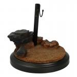 Display Stand diorama ruines champ de bataille grec (Marron)