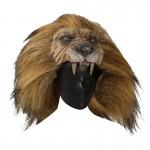 Casque Nemean tête de lion en fourrure (Beige)