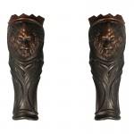 Armures de jambes en métal avec fourrure (Bronze)