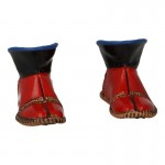 Female Feet with Kogate Sandals (Red)