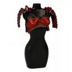 Armure de poitrine avec épaulettes Sode Femme (Rouge)