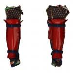 Female Suneate Leg Armors with Kusazuri Knee Pads (Red)
