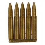 Clip 5 cartouches 7,92mm en métal (Or)
