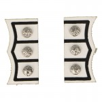 Scots Royal Guard Officer Cufflinks (White)