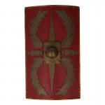Bouclier de Centurion romain LEG II (Rouge)