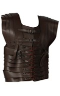 Protection de buste Lorica en cuir (Marron)