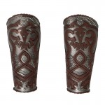 Rohan Knight Forearm Armors (Brown)