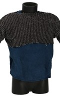 Velvet Shirt with Chain Mail Chest Protection (Blue)