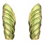 Elven Warrior Forearm Armors (Gold)
