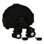 Fast Base Jump Helmet with MUM-14 NVG and Cover (Black)