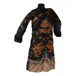 Robe de cérémonie Python d'Officier de la Dynastie Qing en satin (Noir)