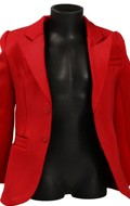 Veste de costume en satin (Rouge)