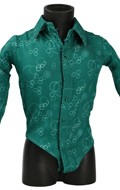 Satin Patterned Shirt (Green)