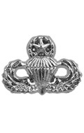 Diecast US Army Paratrooper Certificate Insignia (Silver)