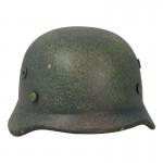 Casque Md 35 aspect usé en métal (Feldgrau)
