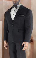 Gentlemen Leisurewear Smoking Suit Set (Black)