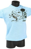 T-shirt Cartoon (Bleu)