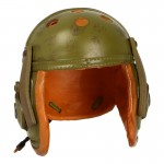 Worn Tanker Helmet (Olive Drab)