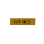 Patch plaque nominative Grimes