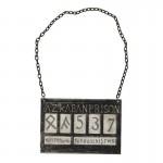 Plaque d'identité de prisonnier d'Azkaban (Gris)