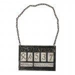 Azkaban Prisonner Identity Plate (Grey)