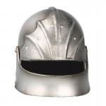 Diecast Gothic Knight Sallet Helmet (Silver)