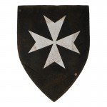 Worn Hospitaller Knight Shield (Black)
