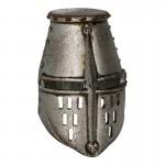 Casque de chevalier hospitalier en métal (Argent)