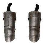 Armures de cuisses de chevalier hospitalier en métal (Argent)