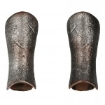 Armures de jambe de chevalier hospitalier en métal (Argent)