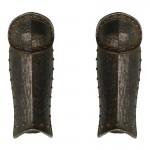 Worn Diecast Knight Teutonic Herald Leg Armors (Black)
