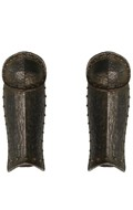 Worn Diecast Knight Teutonic Herald Leg Armors (Black)