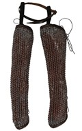 Worn Chain Mail Leg Protections (Grey)