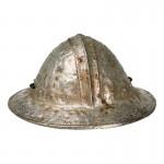 Worn Diecast Knight Hospitaller Master Sergeant Helmet (Silver)