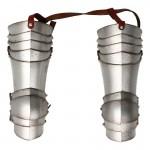 Armures de cuisses de Chevalier Spirituel en métal aspect usé (Argent)