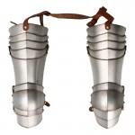 Armures de cuisses bras de Chevalier Bachelier en métal aspect usé (Argent)