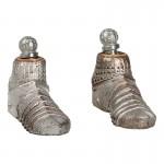 Chaussures en armure de Chevalier Spirituel en métal aspect usé (Argent)