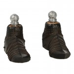 Diecast Heavy Armored Guard Knight Armored Shoes (Black)