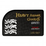 Lifesize Diecast Heavy Armored Guards Authenticity Certificate Card (Black)