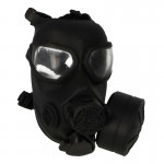 M45 Gas Mask with Voice Projection Unit and Breathing Hose (Black)