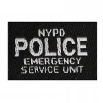 Patch Police NYPD Emergency Squad (Noir)