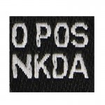 Patch groupe sanguin O Pos NKDA (Noir)