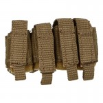 M203 40mm Grenade Quadruple Tactical Tailor Quad Pouch (Coyote)