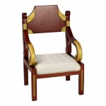Diecast Wooden Chair (Brown)
