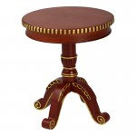 Diecast Wooden Side Table (Brown)