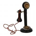 Diecast Candlestick Phone (Black)