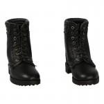 Leather Berci Combat Boots (Black)
